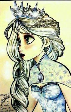 Dibujo de elsa Frozen