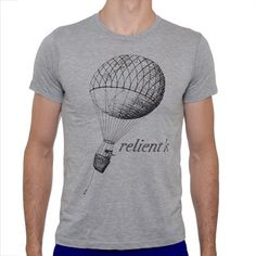 Relient K Merch: Grey T-Shirt with Balloon Design