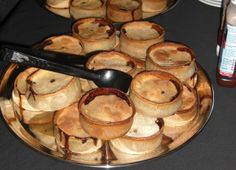 Scotch pies are small raised pies, filled with either beef or mutton and sealed with a lid that sits s little inside the shell. These pies are filled Scottish Meat Pie Recipe, Scottish Recipes, Scottish Dishes, British Recipes, Russian Recipes, Pie Recipes, Cooking Recipes, Turnover Recipes, Recipies