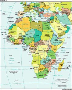 Alphabetical List Of All African Countries With Capitals African - World all country name with capital list