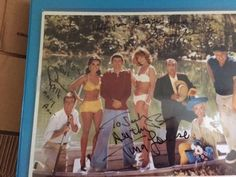 """This is an authentic Gilligan's Island 8x10 Photo signed by Cast Members Tina Louise """"Ginger Grant"""" Dawn Wells """"Mary Ann"""" and Creator Sherwood Schwart... #signed #wells #louise #schwartz #autograph #photo #island #cast #gilligans"""