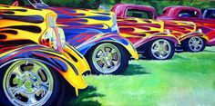 Old School Hot Rod Art | All-0-Way Flamed""
