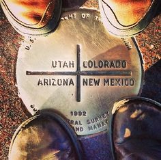 Four Corners Monument | Be in Four States at Once | Utah, Colorado, Arizona, and New Mexico | Shiprock, Utah