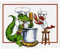 Crawfish Boil w the alligators
