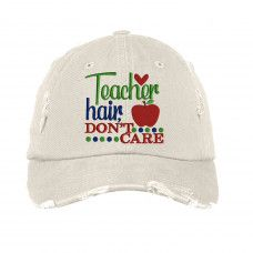 e9278a408 Teacher Hair Distressed Embroidered Hat  https://jelizabethboutique.com/ltebrinke/ Teacher