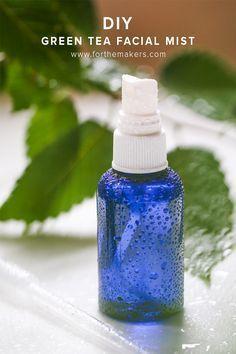 DIY: green tea facial mist