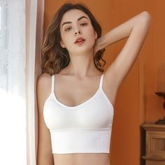 Cropped Tank Top, Crop Tops, Tank Tops, Padded Camisole, Seamless Underwear, Female Girl, Yoga Tops, Short Tops, Sexy Lingerie