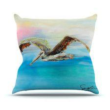 Coast by Josh Serafin Ocean Bird Throw Pillow