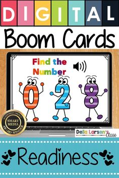 Fun idea for learning to identify numbers. Make the adjustment to kindergarten easier with Boom Cards. Fun ideas for Preschool and kindergarten readiness. Help get your student ready for kindergarten and back to school with a fun game on an iPad or a Chromebook. Be ready for the kindergarten curriculum this fall. #readyforkindergarten #kindergarten #backtoschool #readiness Kindergarten Readiness, Kindergarten Classroom, Classroom Ideas, Preschool Special Education, Gifted Education, Interactive Learning, Interactive Board, Upper And Lowercase Letters, Learning Numbers