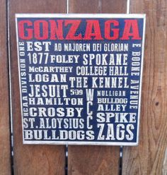 Gonzaga University - Spokane WA 12 x 12 board