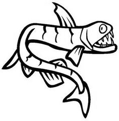 Free Prehistoric Fish Coloring Pages