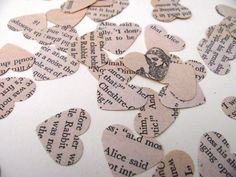 Confetti hearts from the book. Yeah definitely doing this somewhere for my wedding/reception