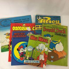 6 Vintage Disney Comic Books Russian Spanish Italian French German Bosnian
