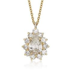 C. 1999 Vintage Tiffany Jewelry 1.76 ct. t.w. Certified Diamond Necklace In 18kt Yellow Gold. 18""