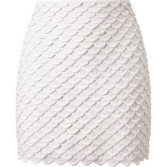 STELLA MCCARTNEY Scalloped Mini-Skirt (€855) ❤ liked on Polyvore featuring skirts, mini skirts, bottoms, saias, faldas, white, scalloped mini skirt, white mini skirt, short skirts and mini skirt