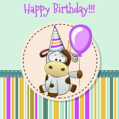 Happy birthday baby greeting cards vector 04