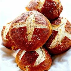 Pretzel Buns.The boiling step is essential...it's what makes pretzels so delicious! They are much cheaper than the ones in stores.