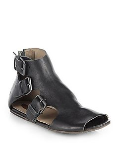 Marsell Leather Buckle Sandals