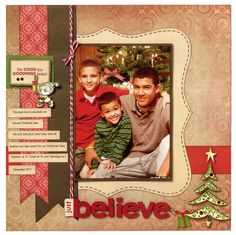 Christmas, scrapbook layout  #CloseToMyHeart #StudioJ