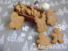 Karácsonyi mézes keksz Winter Christmas, Xmas, Gingerbread Cookies, Sweets, Snacks, Baking, Recipes, Food, Advent