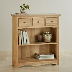 Cairo Natural Solid Oak Small Display Unit by Oak Furniture Land
