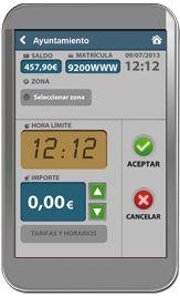 Aplicación para pagar parquímetros vía móvil.