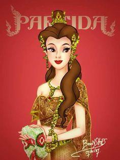 Disney princess wearing Thai traditional dress