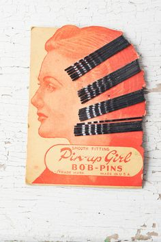 Vintage Pin Up Girl Hair Pins on Original Card Bride by fallaloft