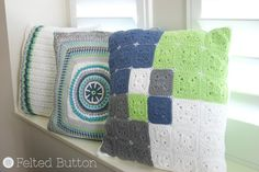 Crochet Pattern Taking Shape Pillow Cushion Cover by FeltedButton