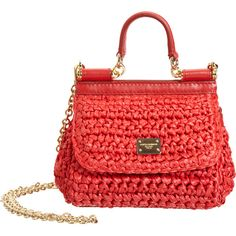 Dolce & Gabbana Raffia Mini Miss Sicily Bag ($479) ❤ liked on Polyvore featuring bags, handbags, bolsas, borse, purses, dolce gabbana purses, handbag purse, mini purse, top handle handbags and man bag