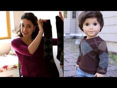 DIY Sweater from a Sock Sewing Tutorial for American Girl Dolls - YouTube