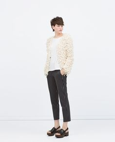 Image 1 of STRIPED NARROW TROUSERS from Zara