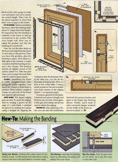 Inlaid Picture Frame Plan - Woodworking Plans