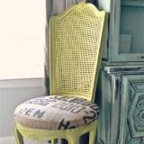 Linked to: www.lizmarieblog.com/2012/09/avocado-and-burlap-chair-makeover/