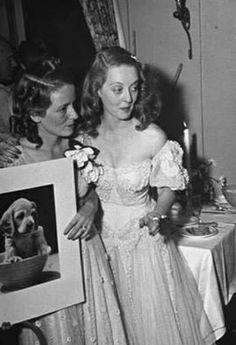 Bette Davis and her sister Bobby at benefit for animals
