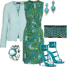 """greenaqua"" by gaitriesharda on Polyvore"