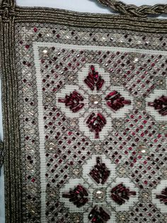 Beaded Embroidery, Cross Stitch Embroidery, Embroidery Designs, Linen Curtains, Beading Patterns, Needlepoint, Needlework, Bohemian Rug, Projects To Try