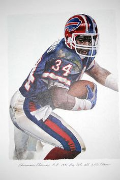Great print of the great ALL-Pro NFL player. This piece is done by the great NFL artist Merv Corning. Sure to be a highly prized collectors