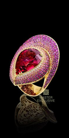 Ring from the Solo Collection~rubellite,diamonds, and pink sapphires.