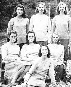 Jacqueline at Miss Porter's, 1947.