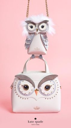 whoo is looking for new owl accessories?) shop now. Unique Purses, Unique Bags, Cute Purses, Luxury Handbags, Purses And Handbags, Leather Handbags, Kate Spade Designer, Owl Bags, Novelty Bags