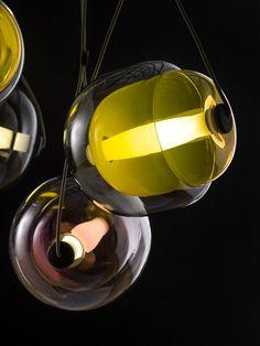 Capsula pendant lights by Lucie Koldova
