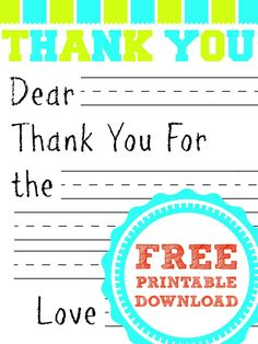If you are looking for a fun way to help your kids write thank you cards after Christmas here's a simple Free Printable Thank You Card for Kids you can print out and use. The kids just need to fill in the blank!