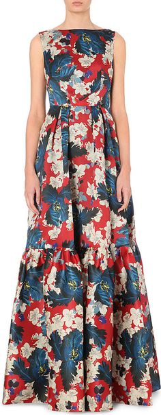 Erdem Tiered Floral-Print Silk Gown - for Women