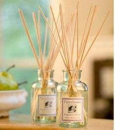 Farmhouse Fragrance Sticks by Sweet Grass Farm. The family I babysit for has these in lilac and they smell amazing! One day.