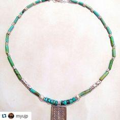 #Repost @myujp  カレンシルバー&ターコイズ ネックレス Myuオリジナル #カレンシルバー#ターコイズネックレス#M'yu#ハンドメイド#カレン族#タイ#ファッション#山岳民族 #デザイン#デザイナー#誕生石#旅#お守りアクセサリー#ジュエリー #karensilver #kareansilver #necklace #silver #Hilltribe #jewelry #amulet #travel#accessories #designer #design #fashion #thailand #turquoise#handmade