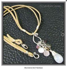 Szarka Moonstone Swirl Necklace