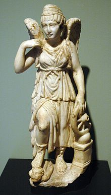 Nemesis holding the wheel of fortune, her right foot resting on a conquered foe. The goddess' hairstyle and facial features resemble those of the emperess Faustina the Elder. Roman marble statuette, ca. Ancient Goddesses, Gods And Goddesses, Greek And Roman Mythology, Greek Gods, Paul Jean Toulet, Justice Tarot, Getty Villa, Roman Gods, Roman Empire