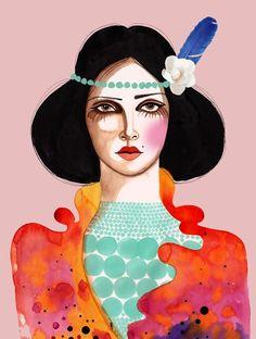 PRINT / Oh Carmen / 8x10 by PeggyWolfDesign on Etsy
