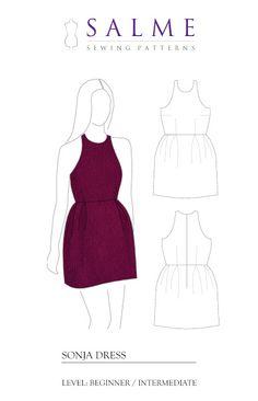 Salme Sewing Patterns: Free sewing pattern - Sonja dress
